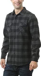 Men's Button Down Long-Sleeve Buffalo Plaid Flannel Shirt