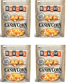 Brachs Gluten Free Candy Corn - Pack of 4 Bags - 10 oz Per Bag - Naturally Flavored - Comes In Easily Resealable Pouches