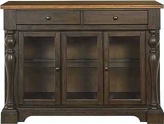 Standard Furniture Dunmore Buffet with Glass Doors Sideboard Brown