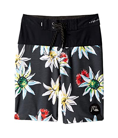 Quiksilver Kids Highline Devils Tea 17 Boardshorts (Big Kids) (Black) Boy