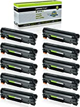GREENCYCLE 10 Pack Black Cartridge Compatible for HP 85A CE285A CE285 Toner Cartridge for HP Laserjet Pro P1102W P1102 P1100 M1212NFW M1212NF M1210 M1132 M1130 Laser Printer