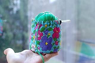 Ball sack yarn ball bag yarn bowl Knitting Crochet bag Storage yarn cozy Knitting Project Bag Small Yarn Bowl Yarn Bucket
