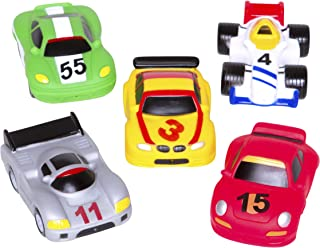 Elegant Baby Bath Time Fun Rubber Water Squirtie Toys In Vinyl Giftable Bag, Race Car Party Best Squirt Toys