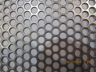"""1//4/"""" Holes Galvanized Steel Perforated Sheet 0.052/"""" x 12/"""" x 12/"""""""