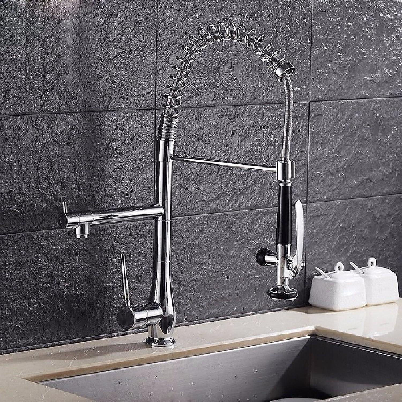 ETERNAL QUALITY Badezimmer Waschbecken Wasserhahn Messing Hahn Waschraum Mischer Mischbatterie Tippen Sie auf die Kupfer Küche Waschbecken Armaturen Double-up mit Quellwa