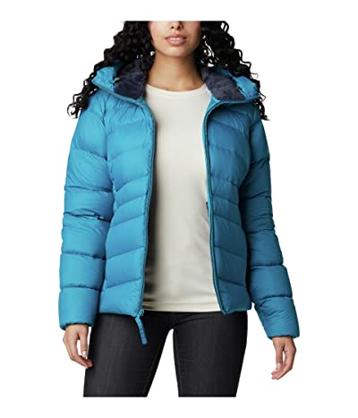 Columbia Autumn Park Down Hooded Jacket (Fjord Blue/Dark Nocturnal) Women