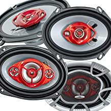 """2X Soundxtreme ST-680 5""""x7"""" / 6x8 in 3-Way 350 Watts Coaxial Car Speakers 4-Ohm and 2X Soundxtreme ST-694 6""""x9"""" 4-Way 520 ... photo"""