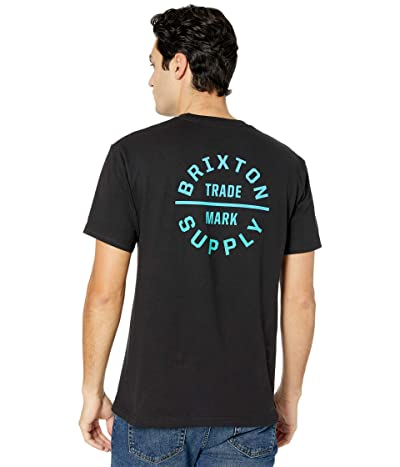 Brixton Oath V Short Sleeve Standard Fit T-Shirt (Black/Gradient) Men