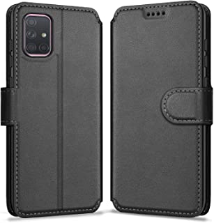 ykooe Phone Case Compatible with Samsung Galaxy A71, PU Leather Protective Phone Cover for Samsung Galaxy A71 Flip Case, B...