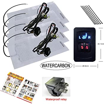 WATERCARBON Water Carbon Premium Heated Seat Kits for Two Seats, 5 Dial Setting Kit for Two Seats