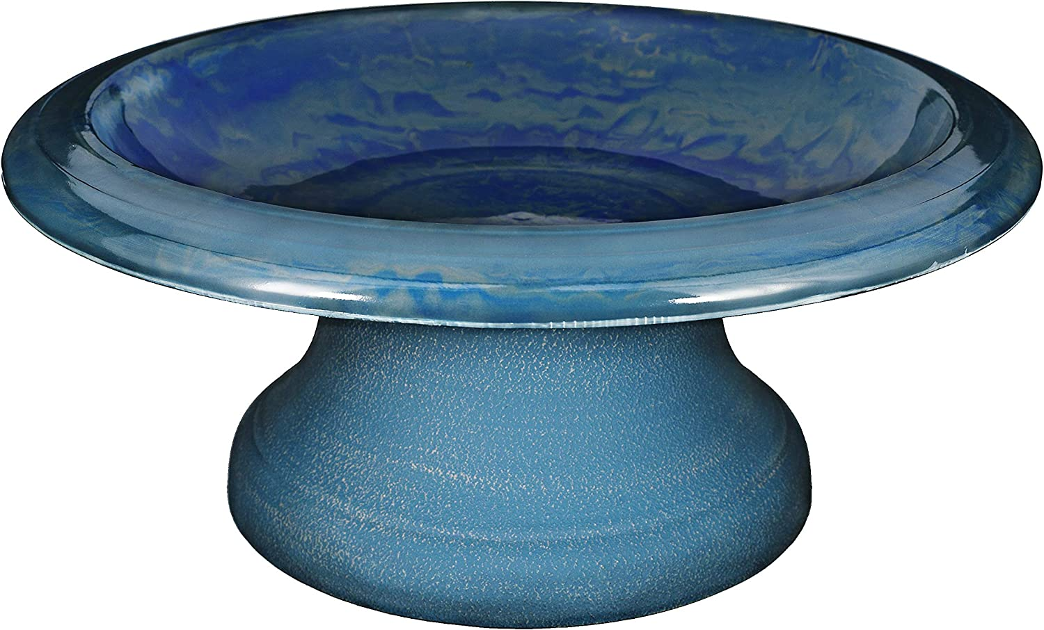 TDI Brands Financial sales sale Fiber Clay Bird Bowl Blue Small Base with Navy famous