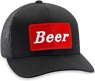 Beer Hat – Drinking Trucker Hat Baseball Cap Snapback Golf Hat (Black)