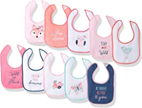 Hudson Baby Unisex Baby Drooler Bibs with Fiber Filling