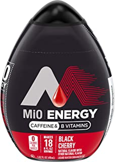 MiO Energy Black Cherry Liquid Water Enhancer, 1.62 oz Bottles (Case of 12)