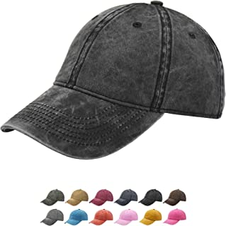 Sponsored Ad - TSSGBL Vintage Cotton Washed Adjustable Baseball Caps Men and Women, Unstructured Low Profile Plain Classic...