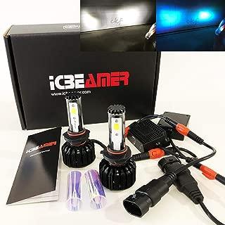 CK Formula (2 Colors in 1 Kit) 9005-HB3 6000K Cool White 10000K Blue Xenon COB LED Conversion Bulb (High Beam) 9000LM US