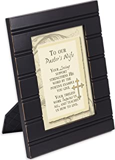 Cottage Garden Pastors Wife Your Loving Support 8 x 10 Distressed Black Accent Picture Frame Plaque