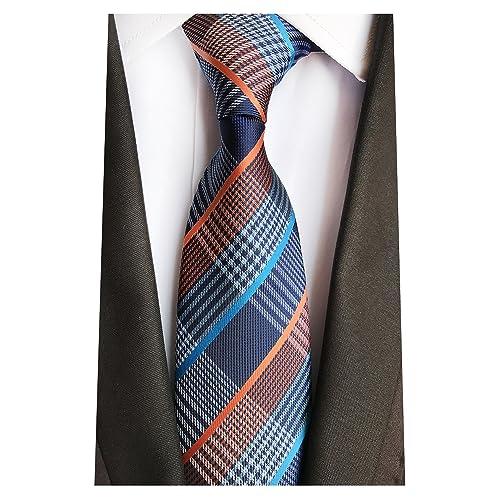 e6e6c69e280b MENDENG New Classic Striped White Black Streak 100% Silk Men'S Tie Necktie  Ties