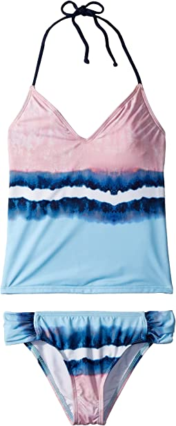 Tie-Dye Stripe Tankini & Tab Side Pants (Big Kid)