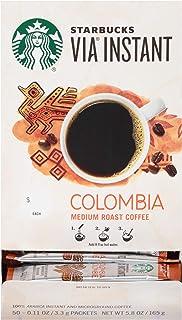 Starbucks Via Instant Colombia Medium Roast Coffee - 100% Arabica Instant & Microground Coffee - 50 CT Packets
