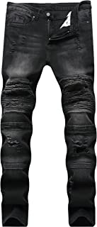 Skinny Slim Fashion Men's Ripped Straight Holes Hip Hop Biker Stretchy Jeans