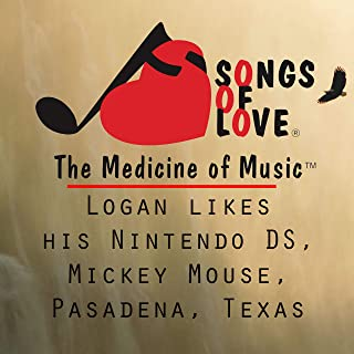 Logan Likes His Nintendo Ds, Mickey Mouse, Pasadena, Texas