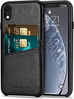 TENDLIN Compatible with iPhone XR Case Wallet Design Premium Leather Case with 2 Card Holder Slots Compatible with iPhone ...