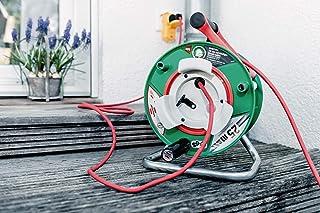 Brennenstuhl Garant G Bretec IP44 Gartenkabeltrommel Kabeltrommel für Rasenmäher mit 482m Kabel in rot, Spezialkunststoff, kurzfristiger Einsatz im Außenbereich, Made in Germany