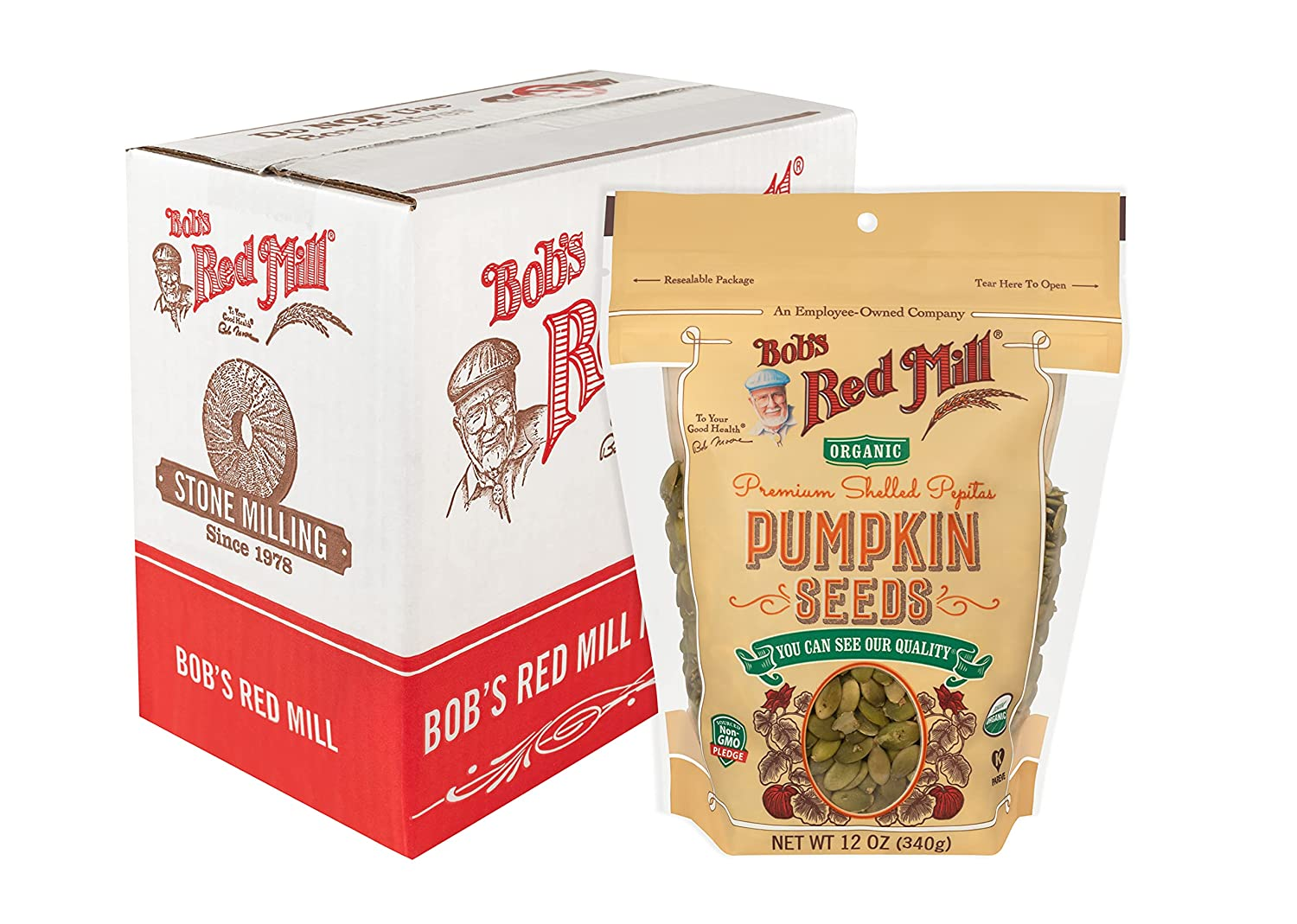 Bob's Red Mill Pumpkin Seeds Oz of 4 12 Max 75% OFF Bombing free shipping Pack