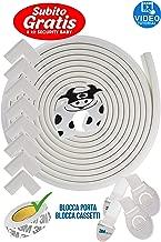 Kit Protector para Esquinas y Bordes   Juego de 8 Cantos Protectores y 1 Rollo, cobertura total de 6,3 m   kit de la Seguridad del niño en la Casa   GRATIS 1 Tope Puerta y 2 Cierre de Seguridad  