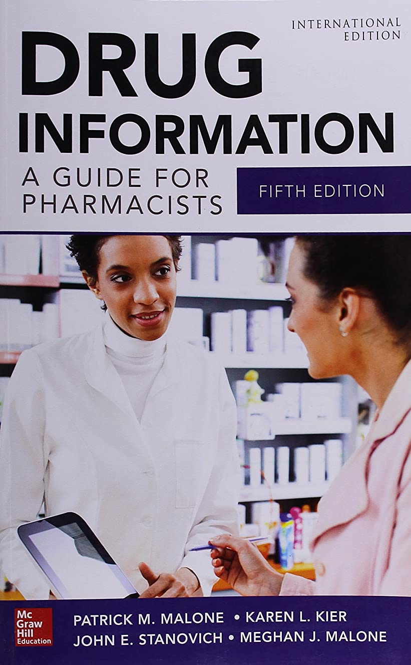 Drug Information A Guide For Pharmacists (Ie).