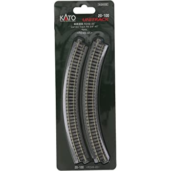 Kato USA Model Train Products UNITRACK Compact Tracks 150mm// Radius//45-Degree 6 4-Piece