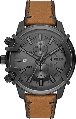Griffed Chronograph Leather Watch - DZ4569
