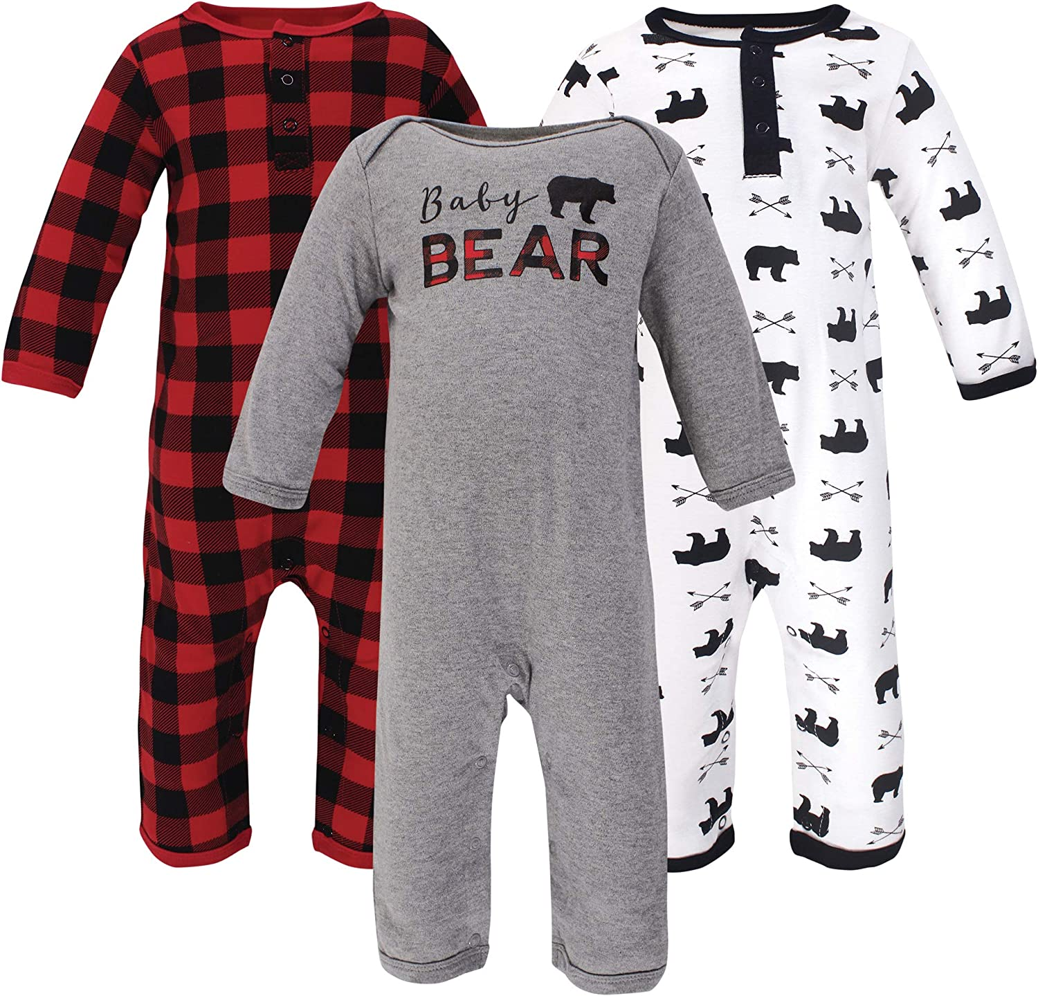 Little Treasure Baby-Boys Cotton Coveralls Baby and Toddler T-Shirt Set