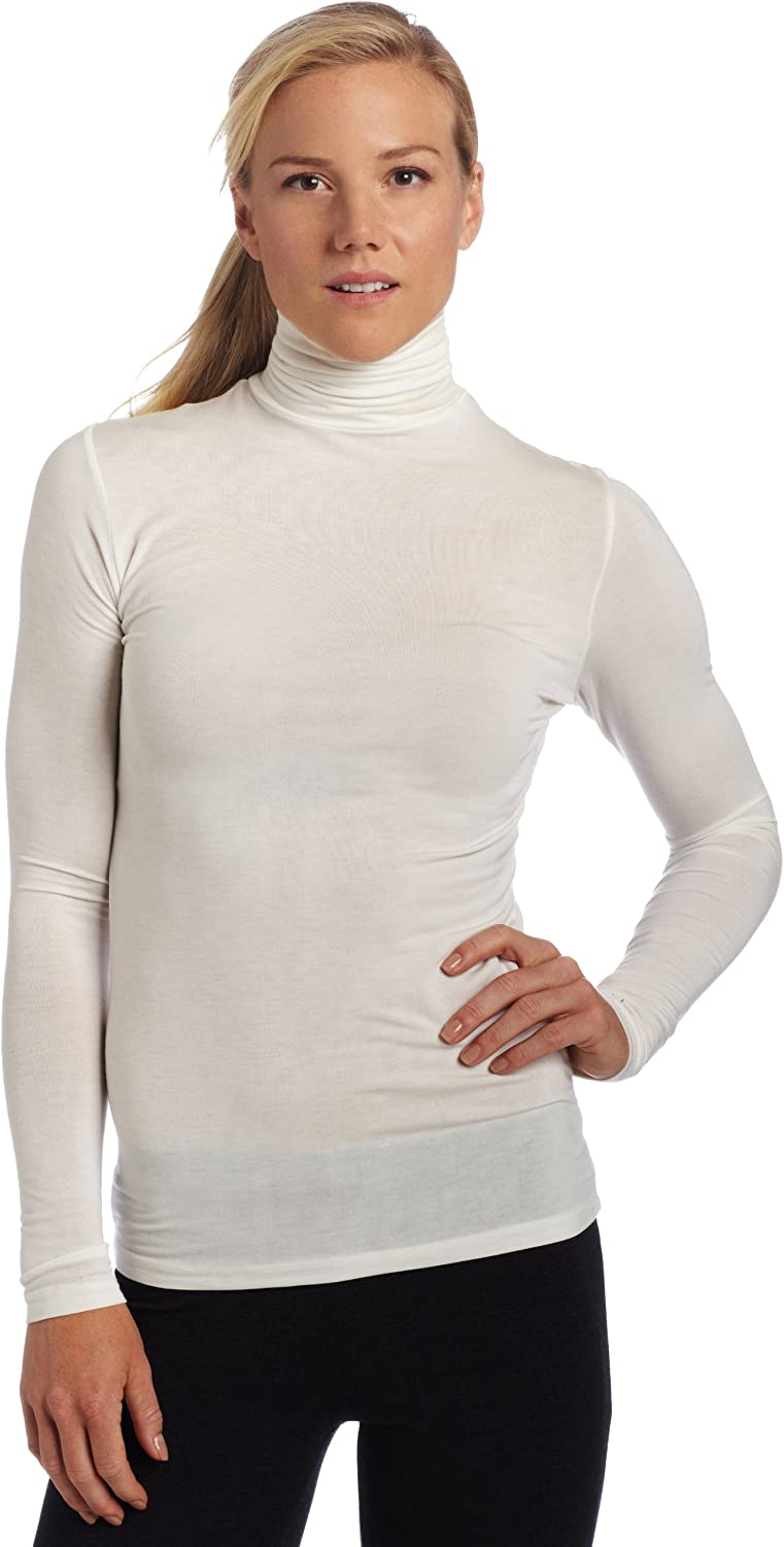 Cuddle Duds Women's Softwear with Stretch Long Sleeve Turtle Neck Top
