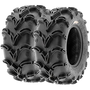 Pair of 2 SunF A050 AT 28x12-12 ATV UTV Deep Mud Terrain Tires 6 PR Tubeless