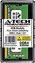 A-Tech 4GB DDR4 2400MHz Laptop Memory Module (1 x 4GB) PC4-19200 Non-ECC Unbuffered SODIMM 260-Pin 1Rx8 1.2V Single Rank Notebook Computer RAM Upgrade Stick (AT4G1D4S2400NS8N12V)