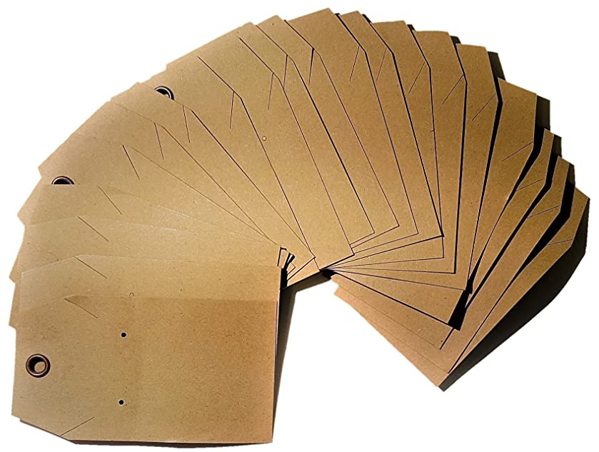 20 Tags of Kraft Combination Necklace and Earring display Card with Riveted Hole Heavy Duty 14pt. Cardstock 2.5