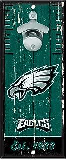 WinCraft NFL Philadelphia Eagles Wood Bottle Opener Sign, 5