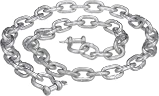Attwood 13753-7 Anchor Chain, for Use on Penetrating Anchors, Hot Dip Galvanized Steel, with 2 Shackles, ¼-Inch x 4 Feet Long