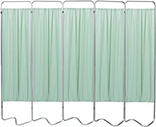 Omnimed 153055-15 Beamatic Privacy Screen with Vinyl Panels, Green, 5 Section