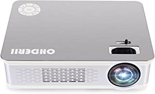 Ohderii Z720 3300 Lumens Led Home Projector Support 1080P Multimedia Home Theater Christmas Projector (Silver)