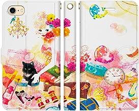 iPhone8 iPhone7 手帳型 ケース カバー GIRL'S DREAM NoA デザイナーズ女の子 ガーリー コスメ ファッション おしゃれ 黒猫 ジュエリー イラスト 可愛い