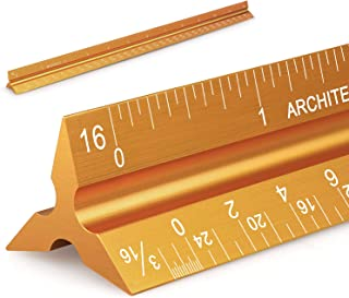"""12"""" Architectural Scale Ruler Aluminum Architect Scale Triangular Scale Ruler for Architects, Draftsman, Students and Engi..."""