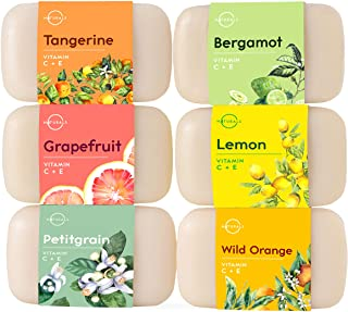 O Naturals 6 Pc Citrus Bar Soap Collection. Vegan Body Soap. Organic Ingredients. Acne Face Cleanser Vitamin E & C Soap, M...
