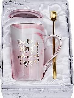 Jumway Does This Ring Make Me Look Engaged? Engagement Gifts Fiance mug Engaged mugs 14 oz Pink coffee mug