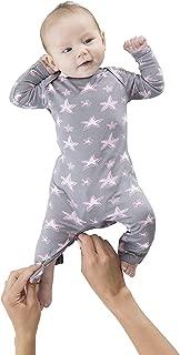 Gunamuna Baby Girls Gunapajama with The Zipper-Easiest Diaper Change,  Stars