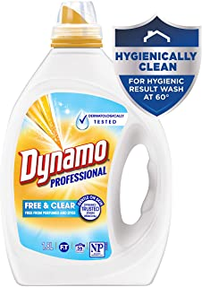 Dynamo Professional Free and Clear, Liquid Laundry Detergent, 1.8 Litres, 36 Washloads