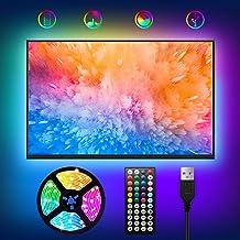 WOANWAY taśma LED do podświetlenia telewizora, USB, 2 m, RGB taśma oświetleniowa z 44 przyciskami, pilot zdalnego sterowan...