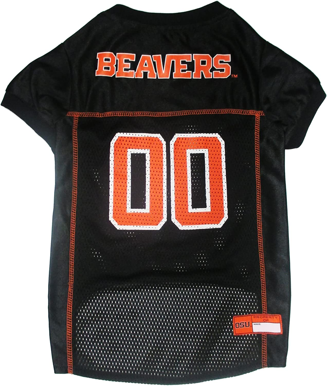Pets First Collegiate Oregon State Beavers Dog Mesh Jersey, Medium